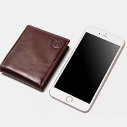 RFID Blocking Bifold Genuine Leather Wallet