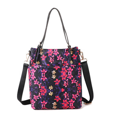 Multifunctional Floral Print Shoulder Bag