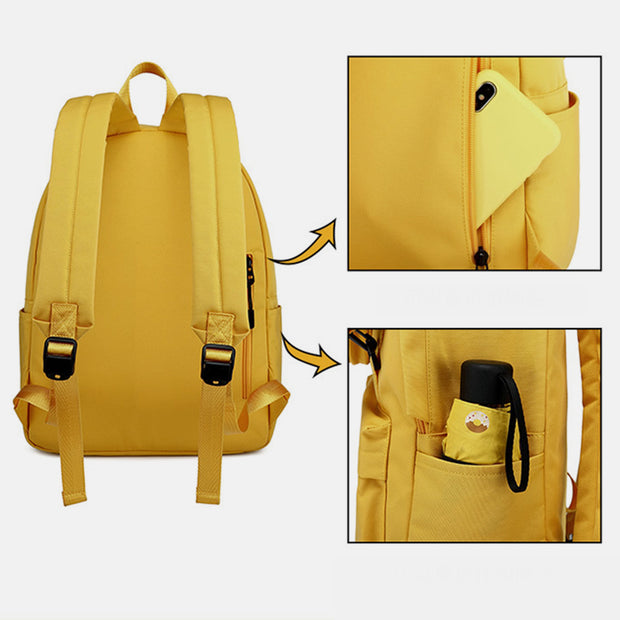 Large Capacity Waterproof Travel Backpack With Cute Mini Pocket
