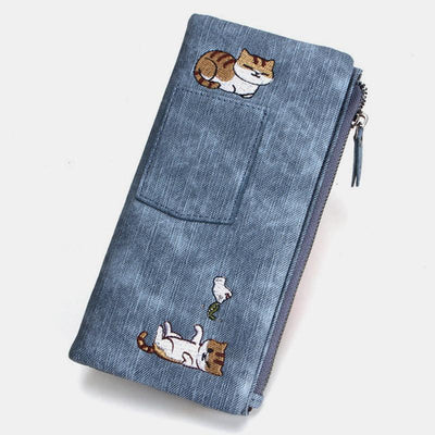 Cute Cat Large Capacity Buckle Wallet