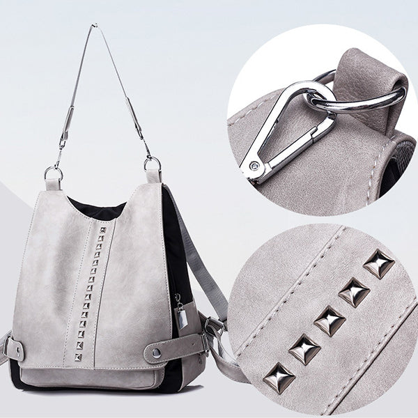 Multifunctional Rivet Backpack