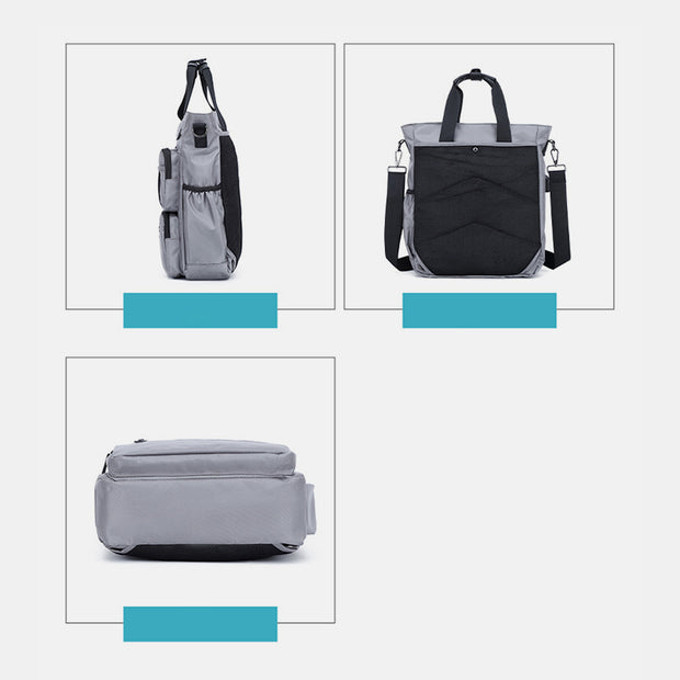 Usb Charging Multi-Pocket Handbag Crossbody Bag