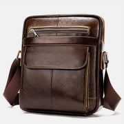 Genuine Leather Durable Business Vertical Crossbody Bag
