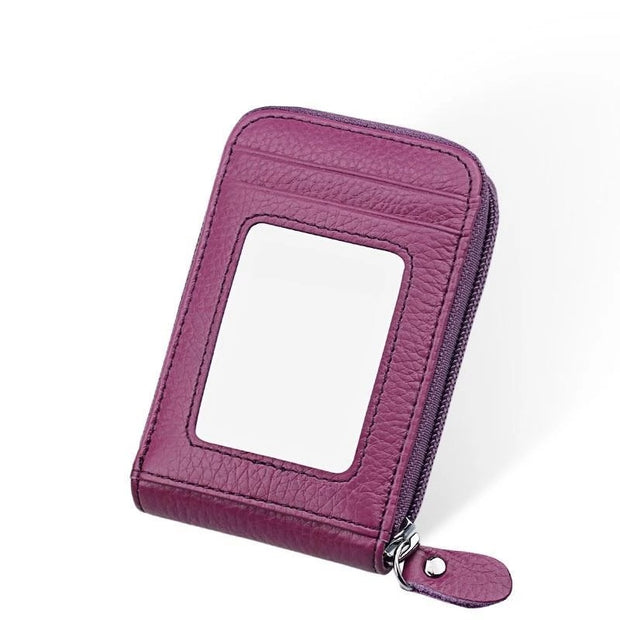 Large Capacity RFID Folding Wallet Card Holder