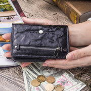 Genuine Leather Bifold Vintage Short Wallet