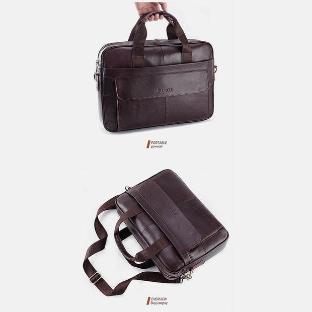 Genuine Leather Vintage Business Messenger Bag