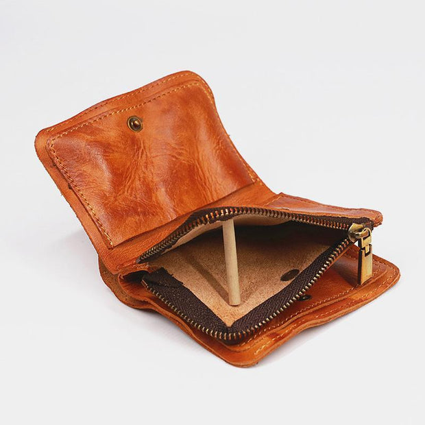 Genuine Leather Handmade Retro Wallet