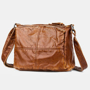 Large Capacity Multi-Compartment Vintage Crossbody Bag