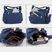 Waterproof Multi-Pocket Solid Crossbody Bag