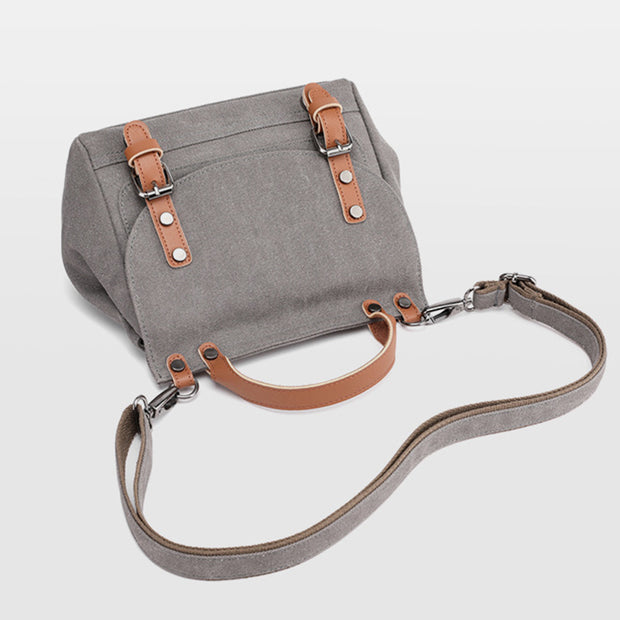 Canvas Large Capacity Vintage Crossbody Bag Handbag
