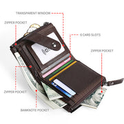 Genuine Leather RFID Small Wallet