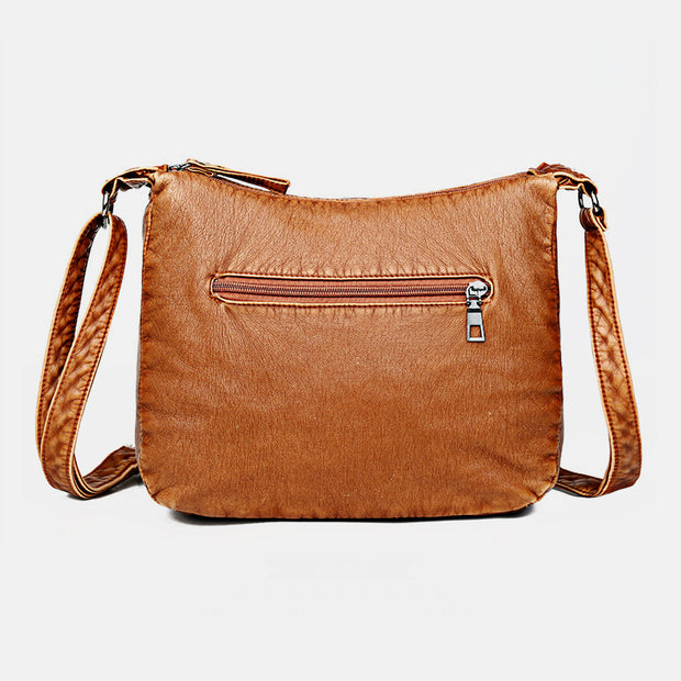 Lightly Design Soft Large Capacity Vintage Crossbody Bag