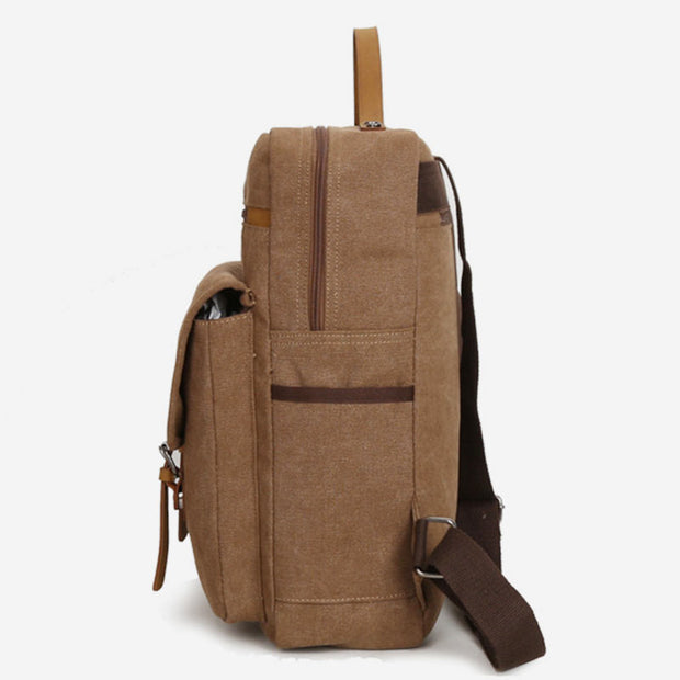 Vintage Large Capacity Canvas Backpack