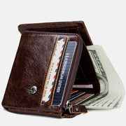 Vintage Real Leather Trifold Wallet