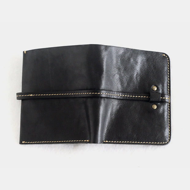 Hand-made Retro Casual Real Leather Slim Wallet