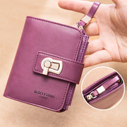 Genuine Leather Retro Multi-Slot Mini Wallet