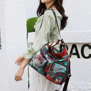 Women Flower Printed Multi-carry Backpack