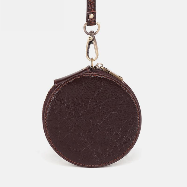 Genuine Leather Cute Retro Round Coin Purse
