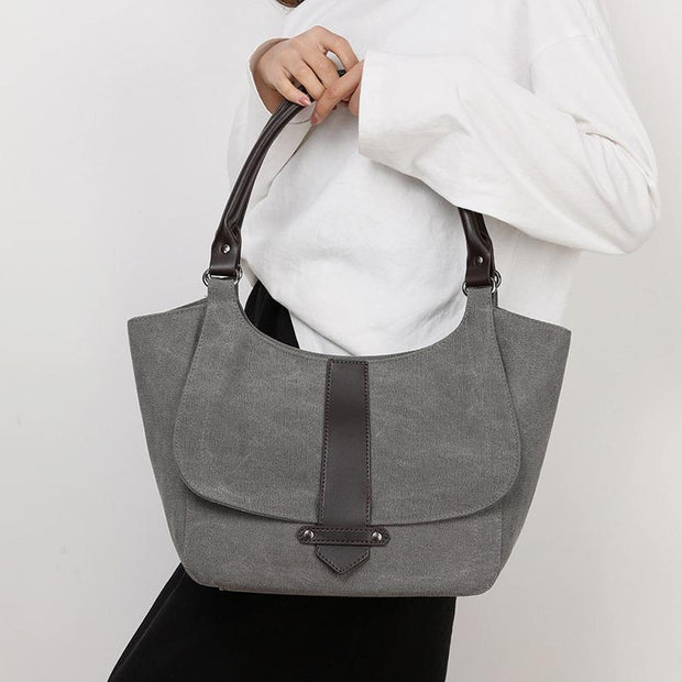 Large Capacity Solid Color Casual Tote