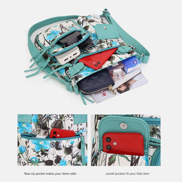 Waterproof Multi-pocket Crossbody Bag Shoulder Bag