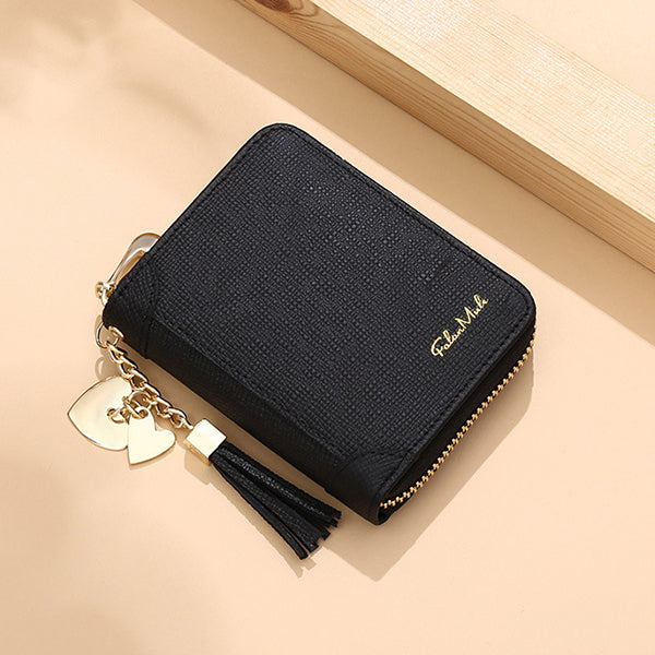 Genuine Leather Multi-Pocket Mini Card Holder