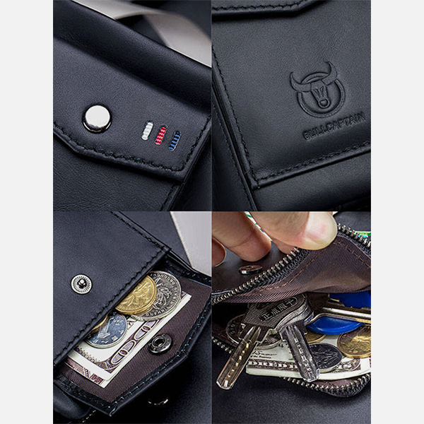 Retro Multi-slot Card Genuine Leather Wallet