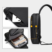 Large Capacity Waterproof Chest Bag Sling Bag With USB Charging Port