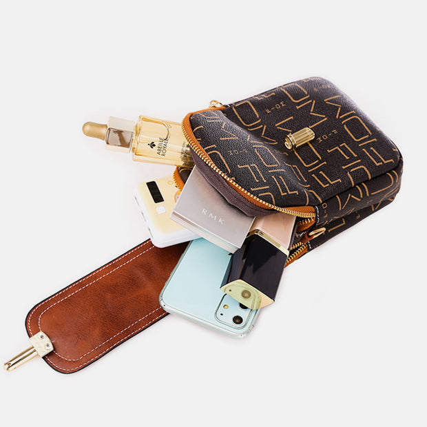 Large Capacity Simply Fashion Embossing Phone Bag