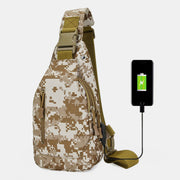 Outdoor Activity USB Charging Sling Bag