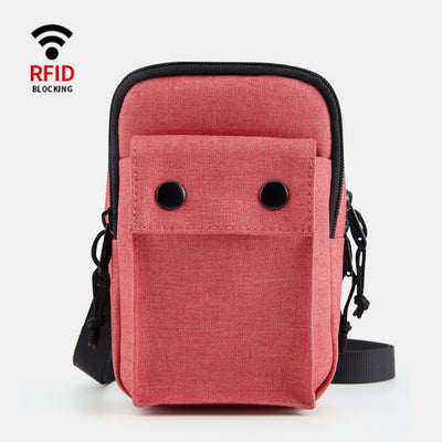 RFID Waterproof Multi-Compartment Crossbody Phone Bag
