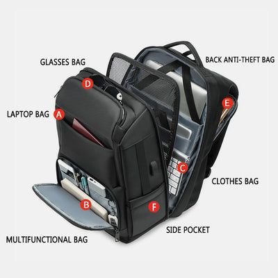 Large Capacity Multifunctional Travel Laptop Backpack