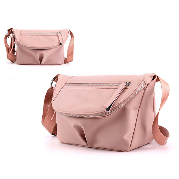 Solid Color Waterproof Casual Crossbody Bag