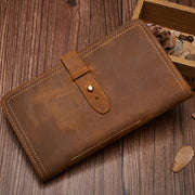 Multifunctional Genuine Leather Retro Wallet Passport Holder