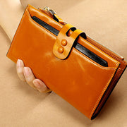 Women's Rfid Blocking  Genuine Leather Wallet