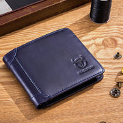 RFID Bifold Genuine Leather Large Capacity Wallet