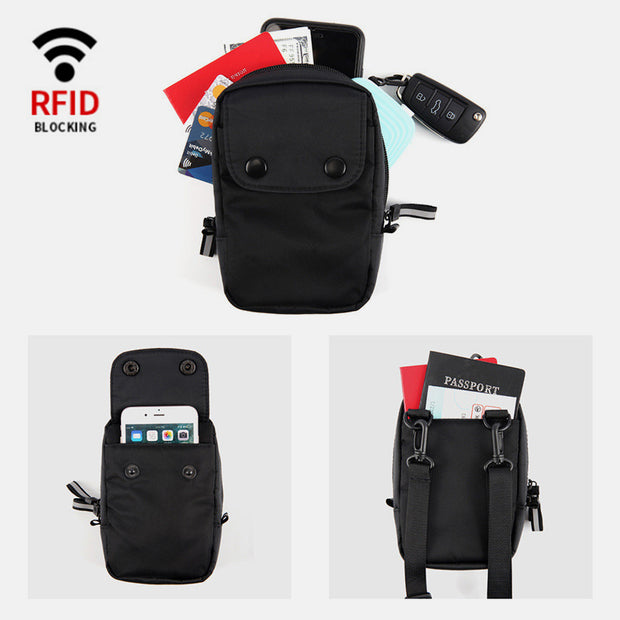 RFID Waterproof Anti-Theft Crossbody Phone Bag