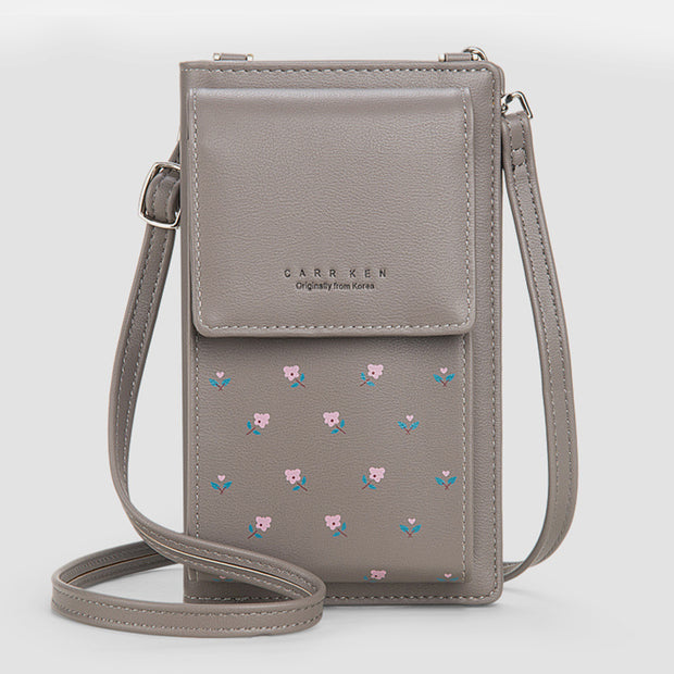 Large Capacity Floral Printed Phone Bag
