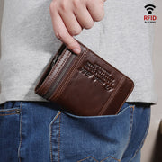 Large Capacity Bifold Retro Wallet