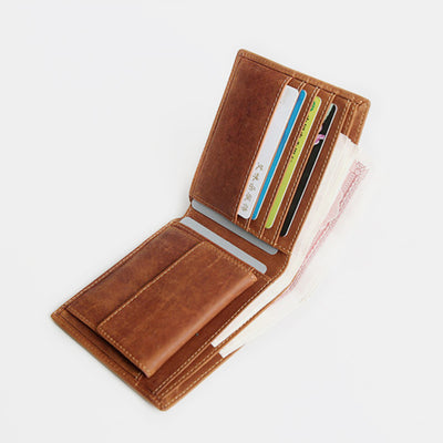 Genuine Leather Casual Bifold Vintage Wallet