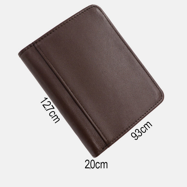RFID Real Leather Retro Wallet