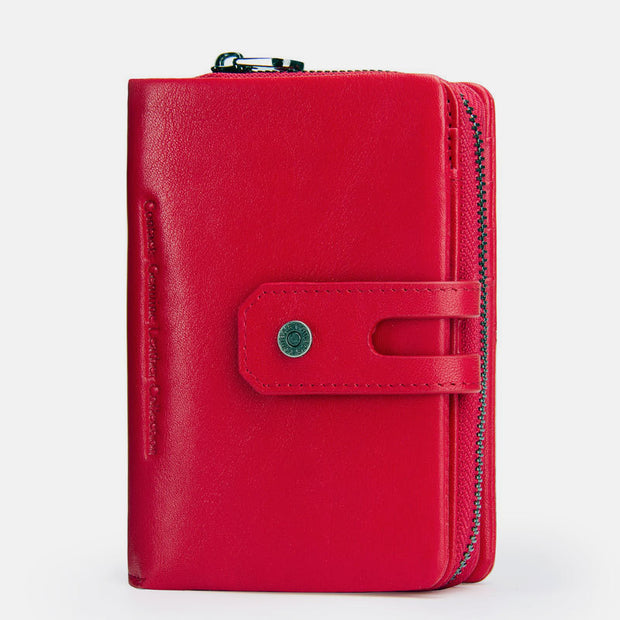 Genuine Leather Multifunctional Anti-theft Wallet