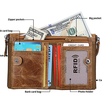 Men's Genuine Leather RFID Wallet