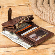 RFID f Retro Anti-theft Leather Wallet