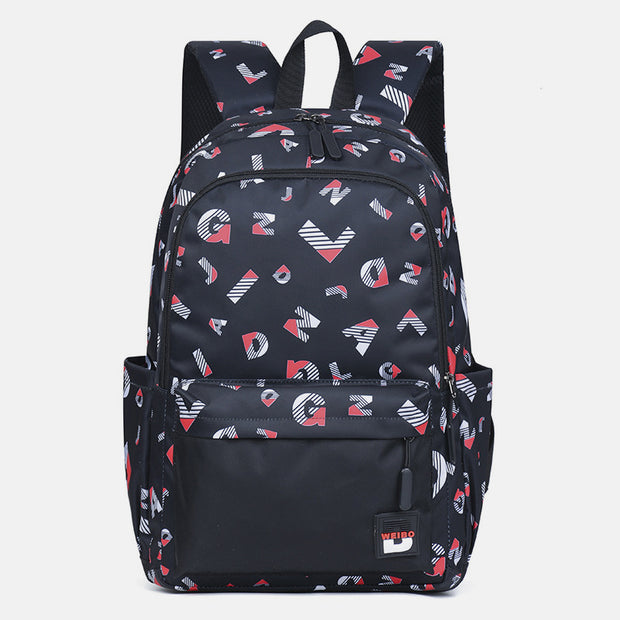 Large Capacity Waterproof Lightweight Printed Backpack
