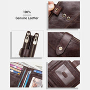 Vintage Genuine Leather RFID Blocking Chain Wallet