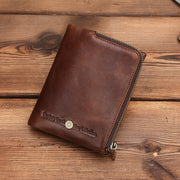 Men's RFID Blocking Genuine Leather Wallet