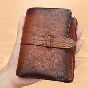 Retro RFID Blocking Leather Wallet