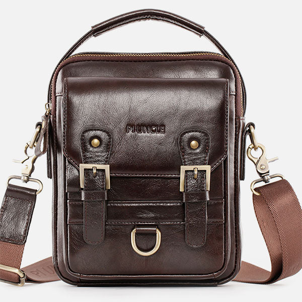 Multifunctional Leather Crossbody Bag