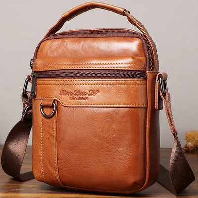 Large Capacity Retro Genuine Leather Crossbody Bag