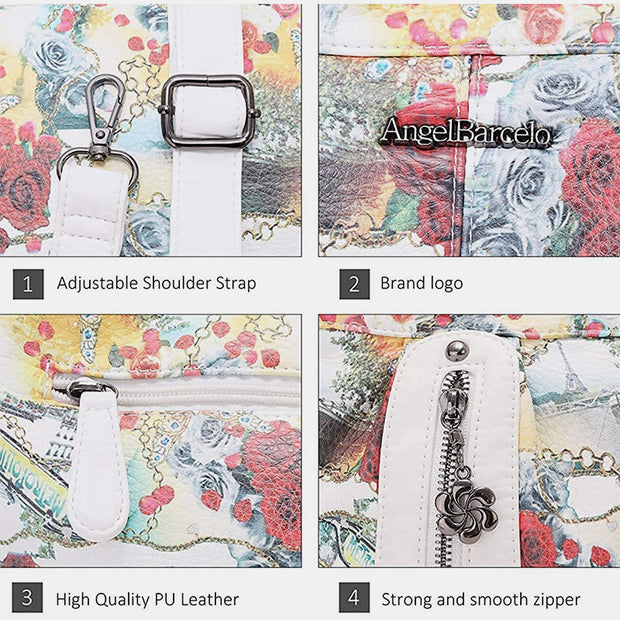 Large Capacity Printed Handbag Messenger Bag